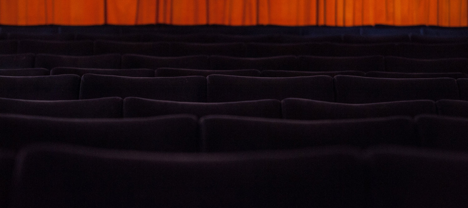 Cinema seats in the auditorium of The Palace Cinema