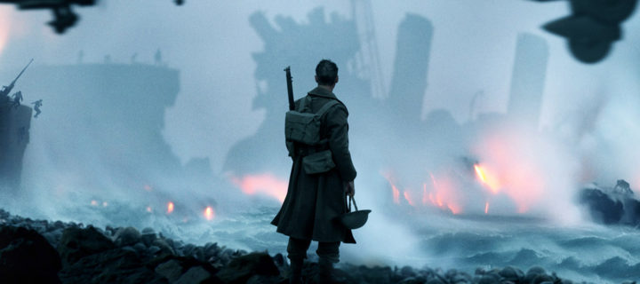 A man standing on a battlefield in Dunkirk